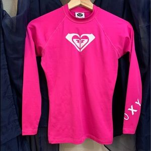 Pink Roxy swim top size small